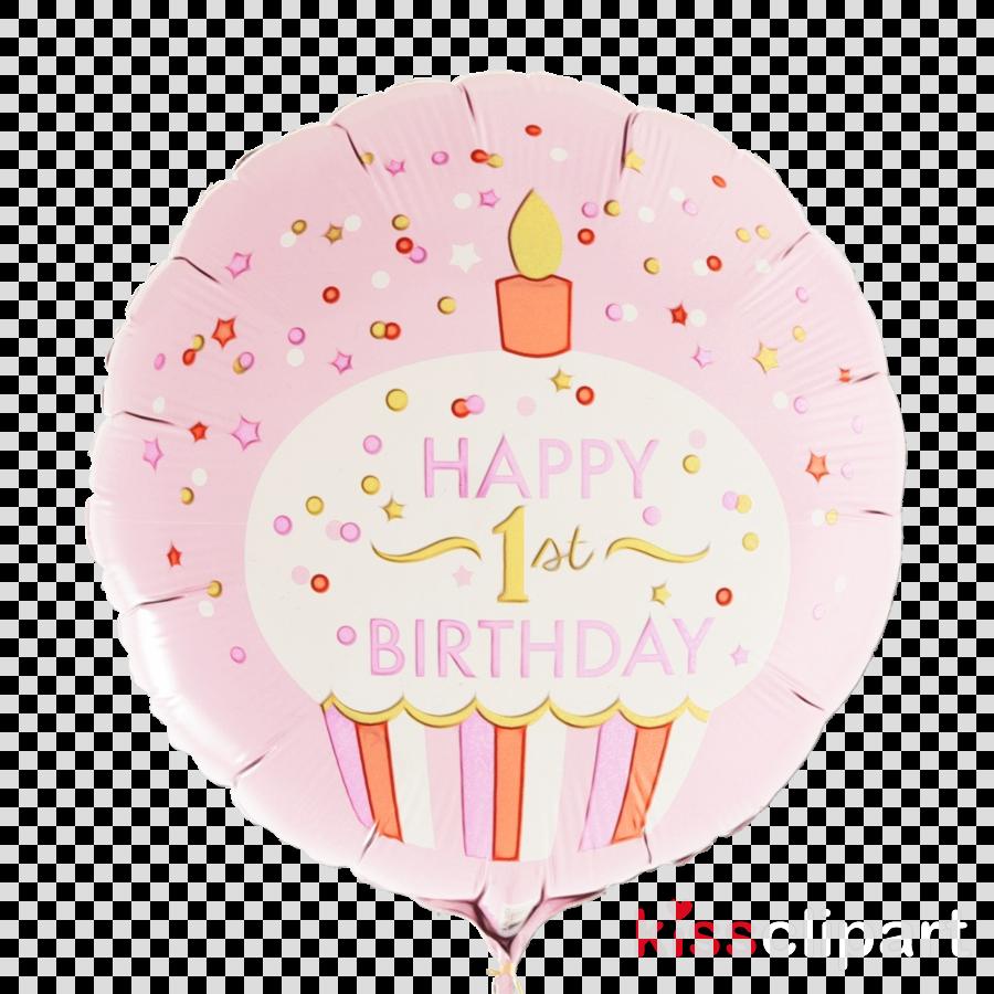Happy Birthday Helium Balloon - Newtons Law 1st Birthday Blue Party