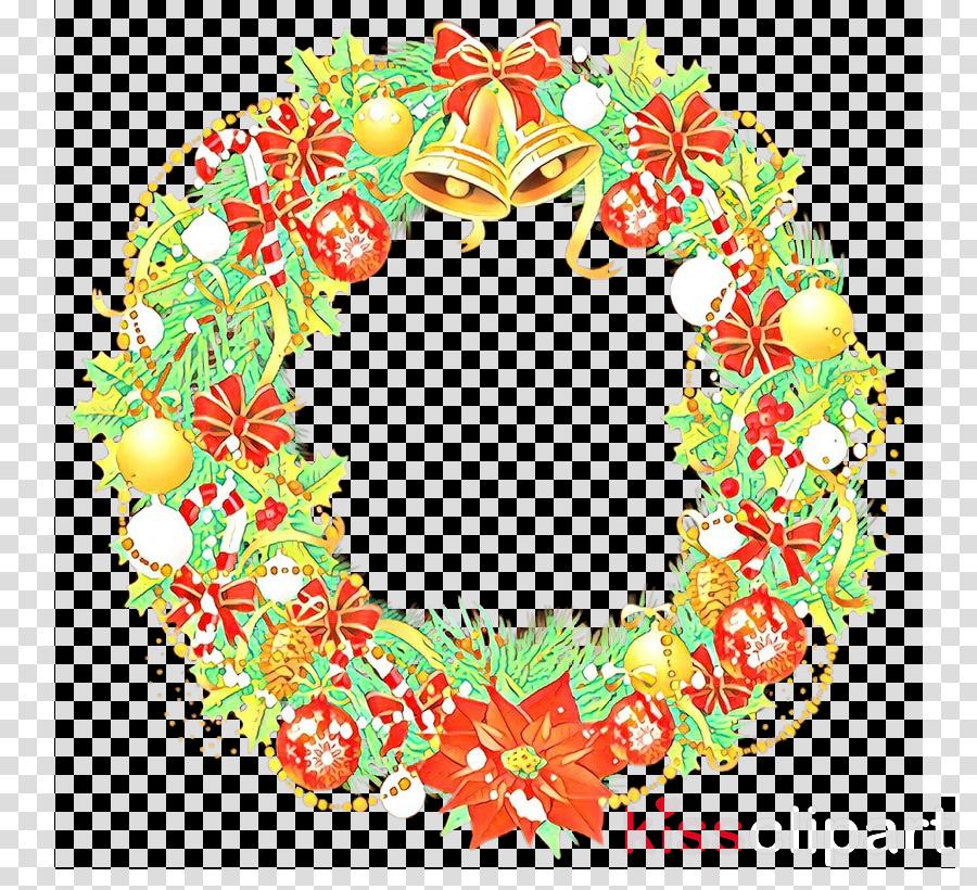 Santa Claus Wreath Christmas Day Portable Network Graphics Clip art