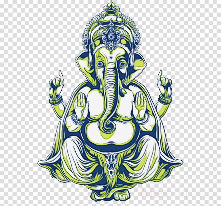 Premium T-Shirt Ganesha Two Words, One Finger