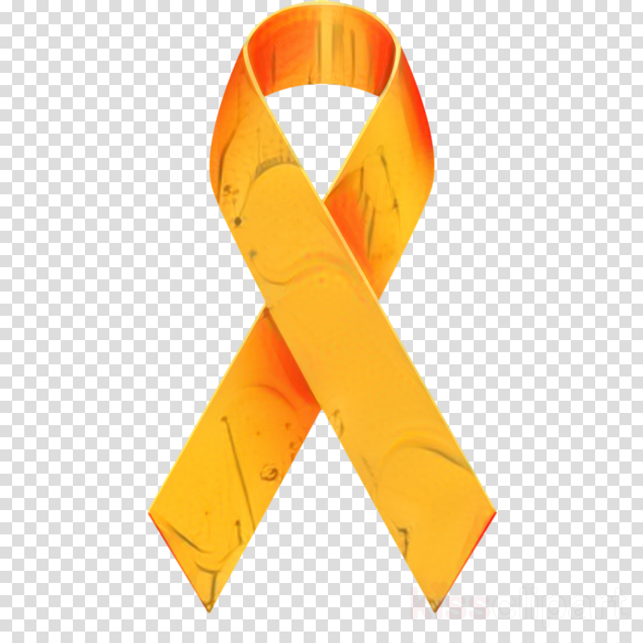 Leukemia Awareness ribbon Cancer Orange ribbon