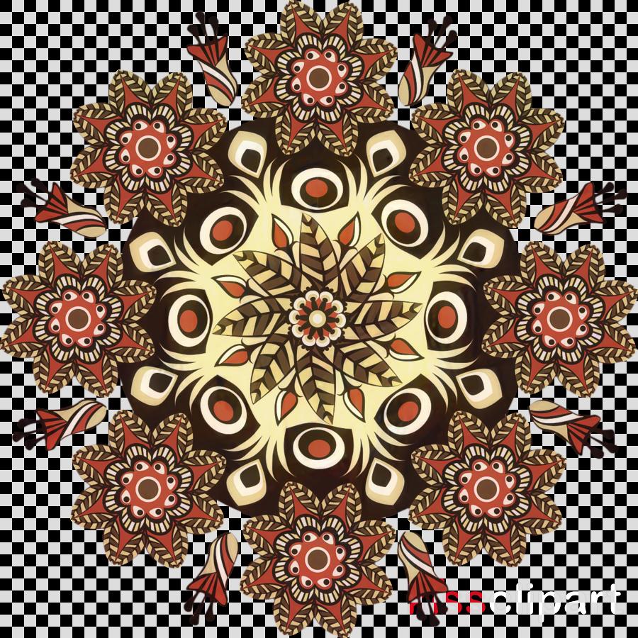 Mandala Design Rangoli Overlapping circles grid Vector graphics