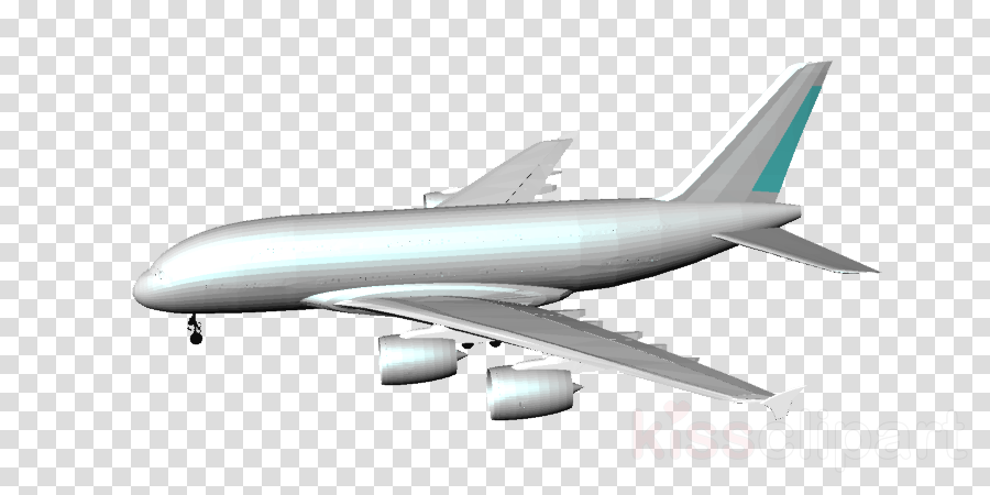 Airbus A380, Boeing 767, Boeing C32, transparent png image & clipart