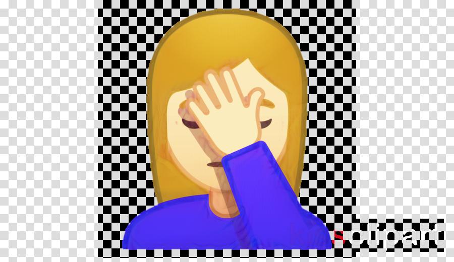 Facepalm, Emoticon, Emoji, transparent png image & clipart