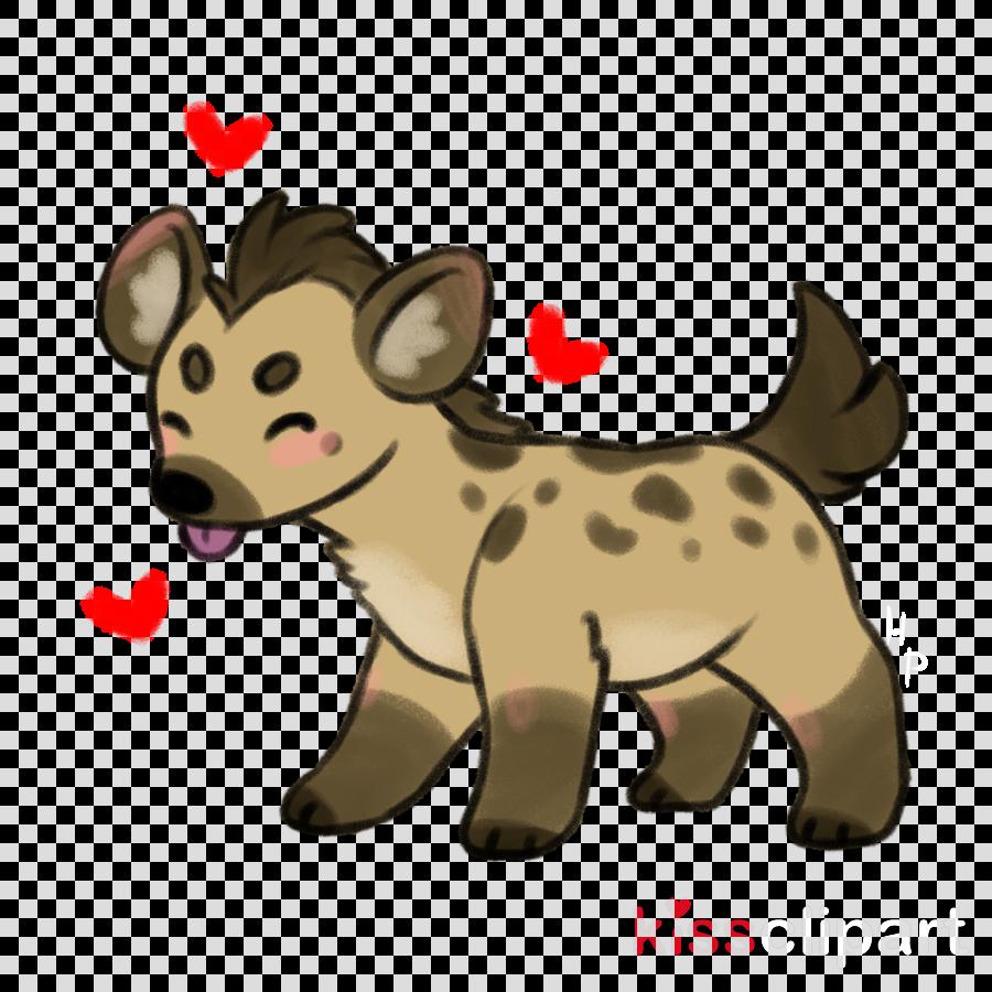 cartoon hyena puppy nose clip art