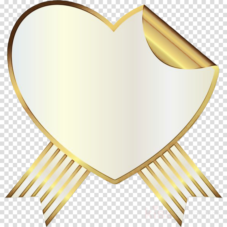 yellow clip art heart clipart - Yellow, Heart, transparent