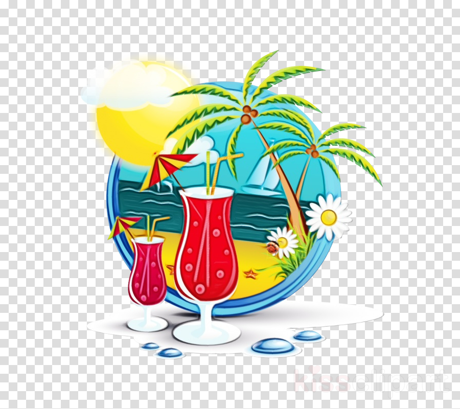 drink hurricane blue hawaii non-alcoholic beverage clip art