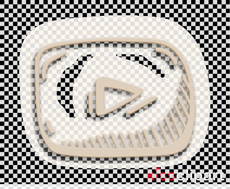 hand drawn icon social icon youtube icon
