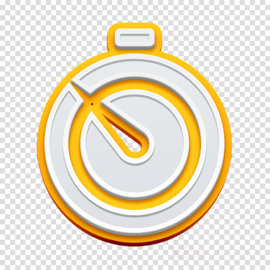 clock icon stopwatch icon timer icon clipart - Orange