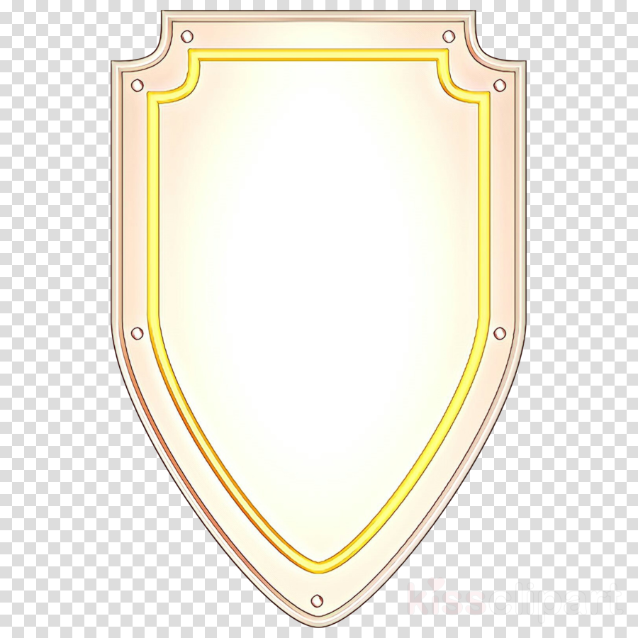 yellow shield clip art rectangle