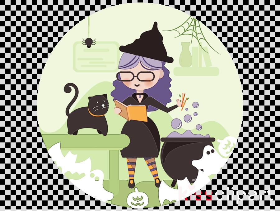 cartoon black cat cat