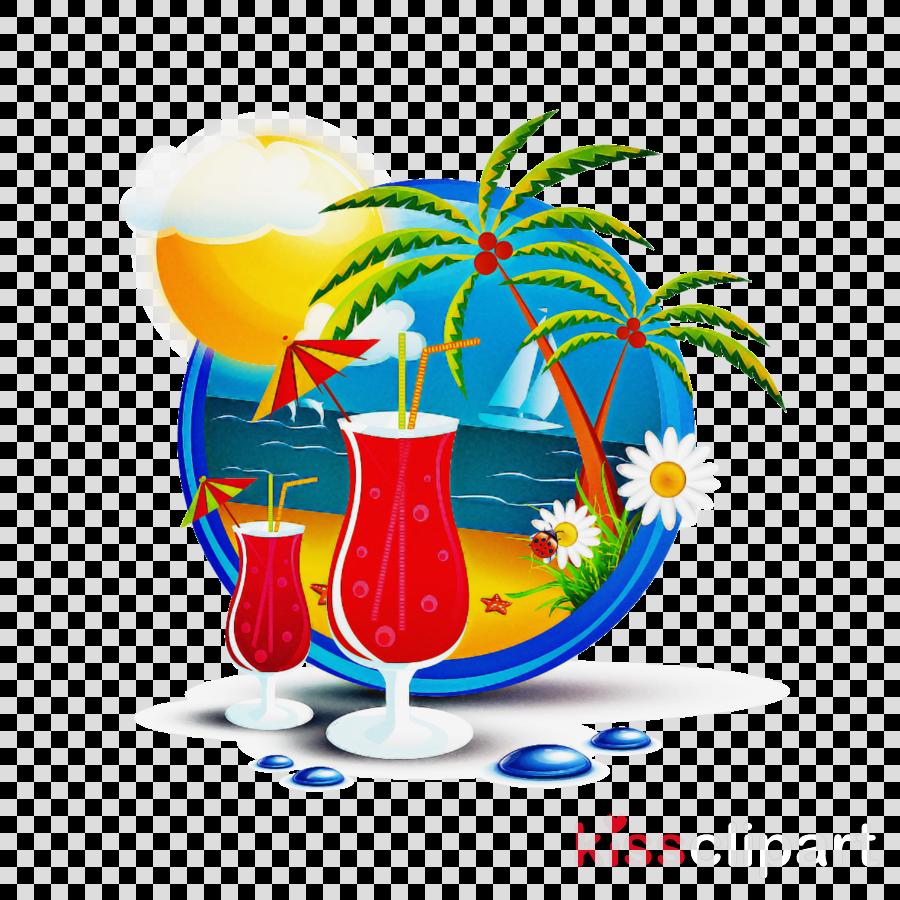 hurricane drink blue hawaii cocktail garnish non-alcoholic beverage
