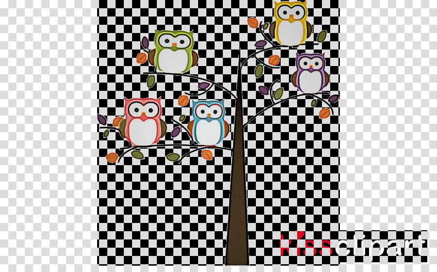 owl branch bird cartoon clip art