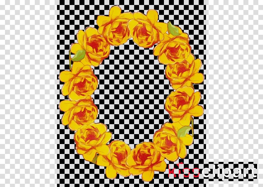 yellow lei clip art