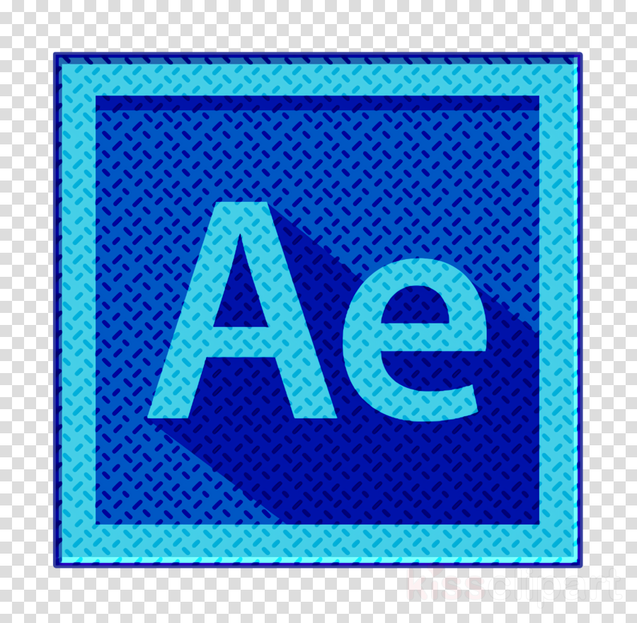 Adobe Icon After Effects Icon After Effects Logo Icon Clipart Blue Aqua Electric Blue Transparent Clip Art