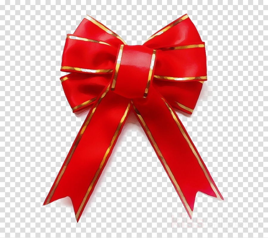 red ribbon gift wrapping present material property