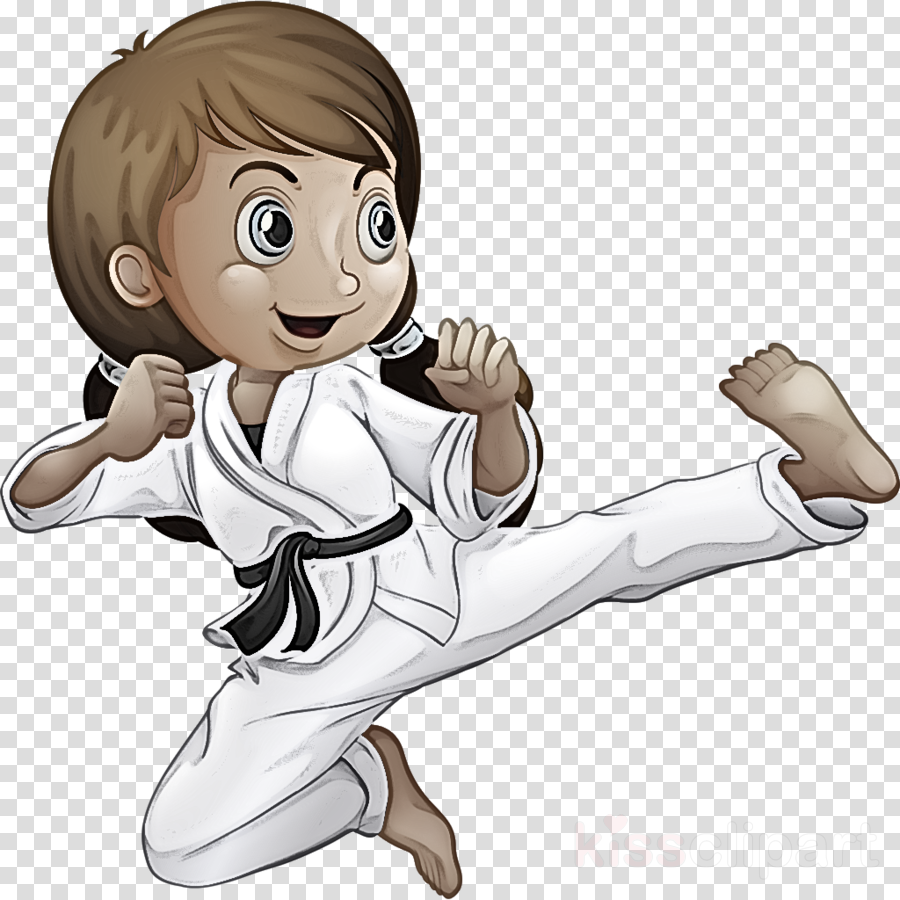 karate kick taekwondo martial arts cartoon