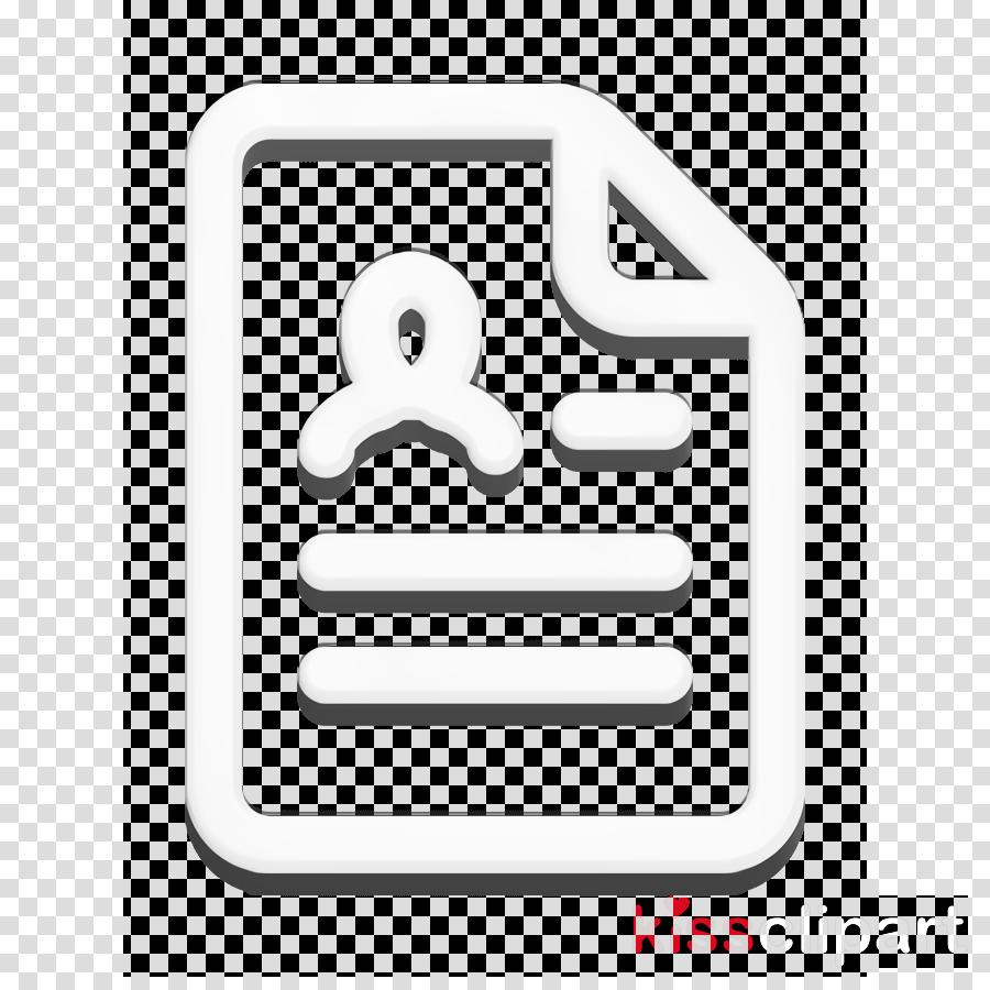 Cv Icon Document Icon Resume Icon Clipart Text Symbol Line