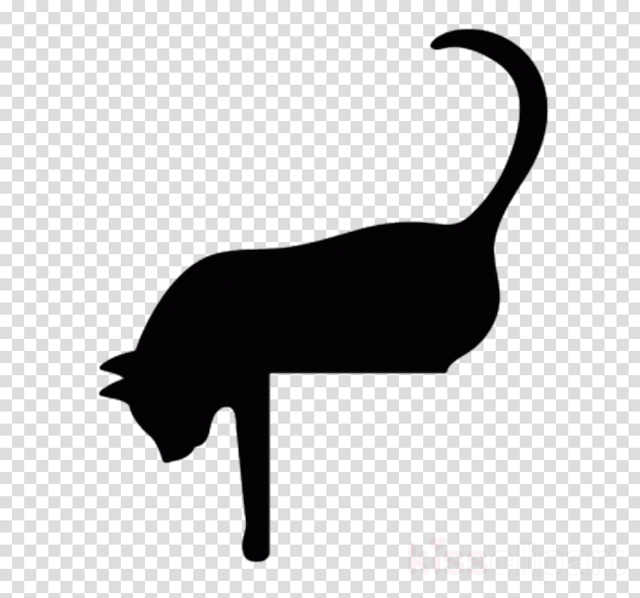 Clip Art Silhouette Tail Black Cat Small To Medium Sized Cats Clipart Silhouette Tail Black Cat Transparent Clip Art