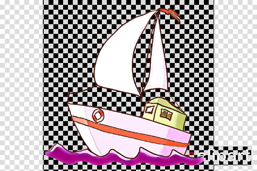 sailboat boat clip art sail pink