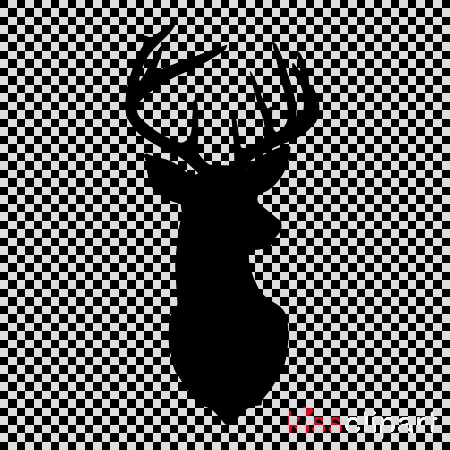 white black deer head black-and-white