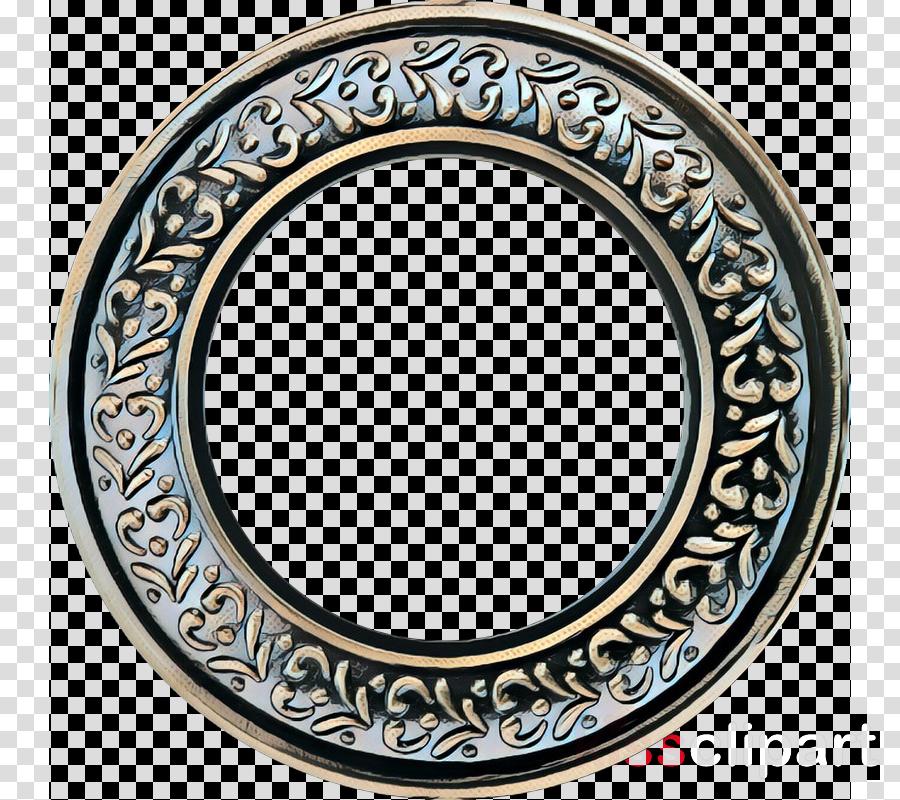 serveware circle mirror tableware oval
