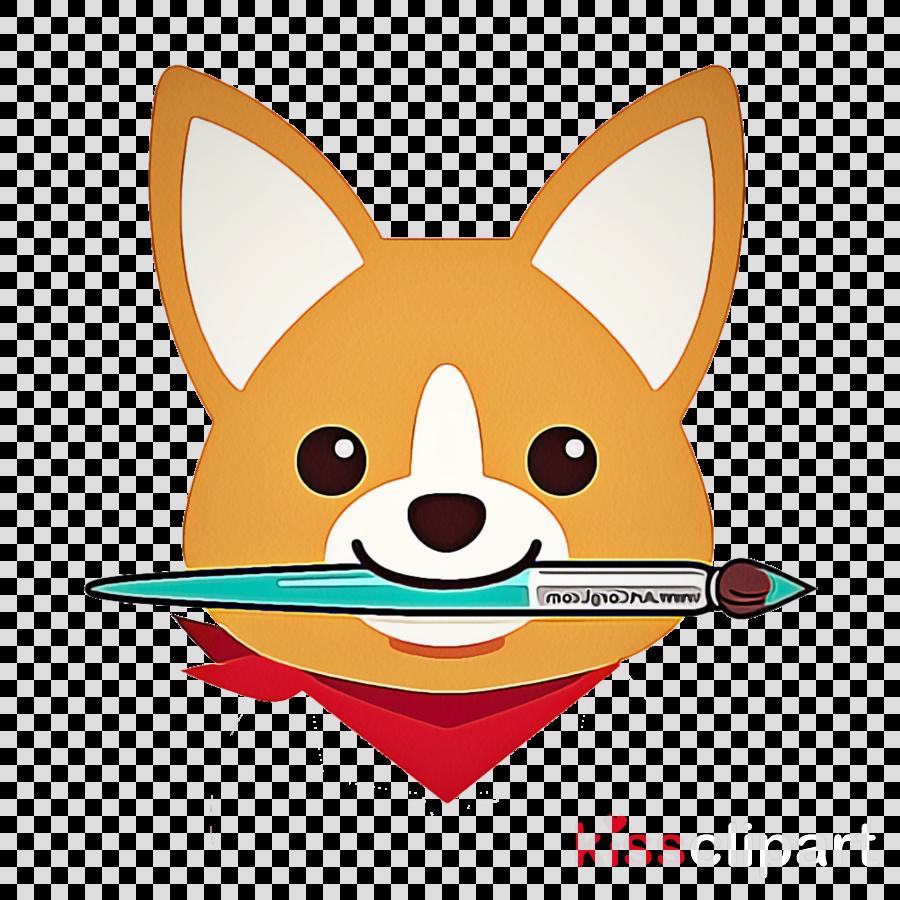 cartoon whiskers fox clip art