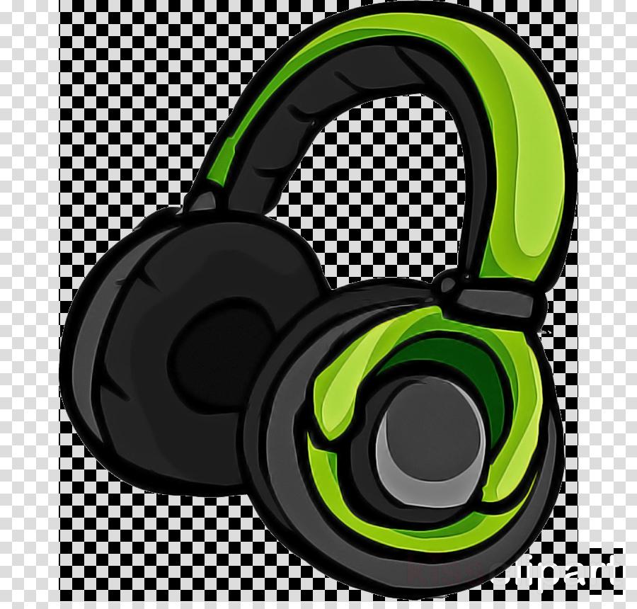 headphones green audio equipment headset gadget