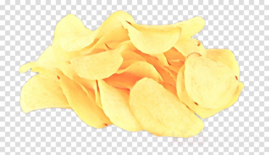 junk food yellow potato chip petal food