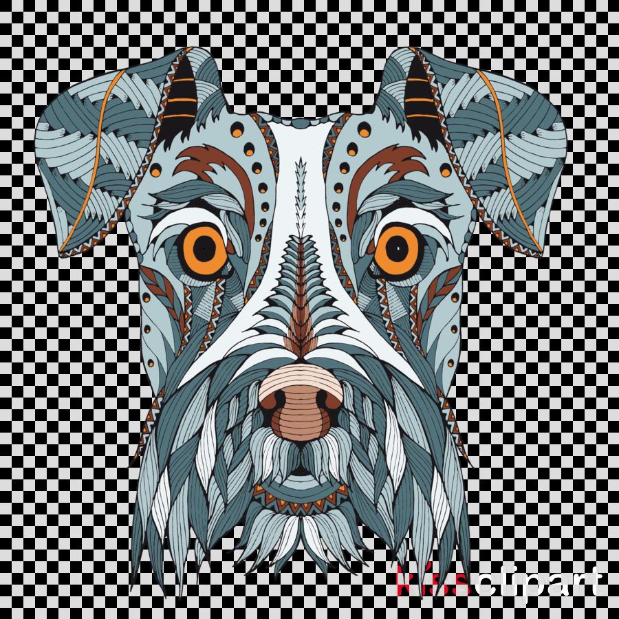 dog t-shirt dog breed schnauzer snout