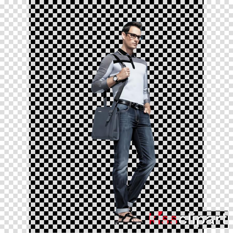 jeans clothing shoulder denim leather