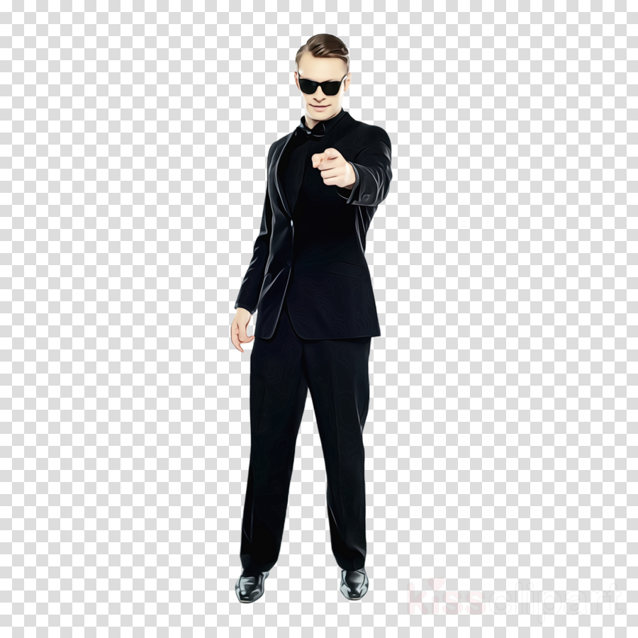 clothing eyewear black suit standing