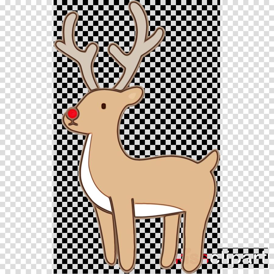 Reindeer clipart - Reindeer, Deer, Head, transparent clip art