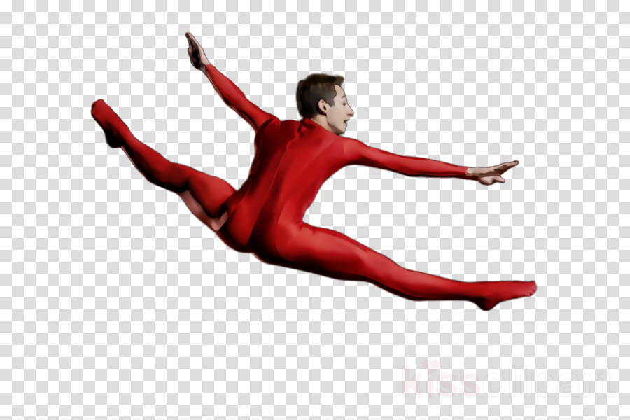 athletic dance move red dancer jumping sportswear