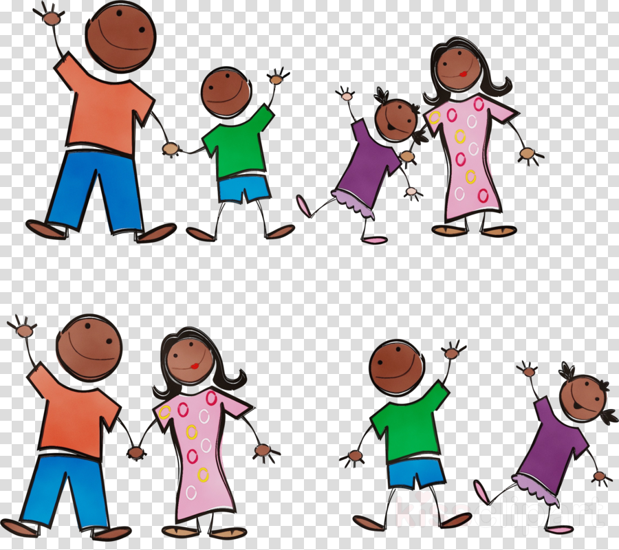 people playing with kids child social group clip art