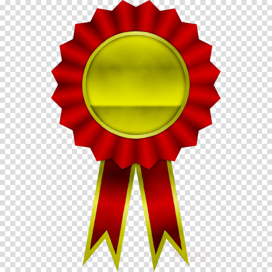 red clip art yellow ribbon medal clipart - Red, Yellow