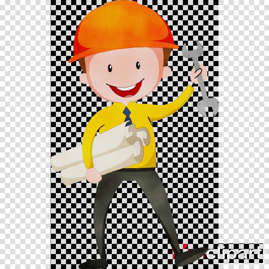 cartoon clip art construction worker