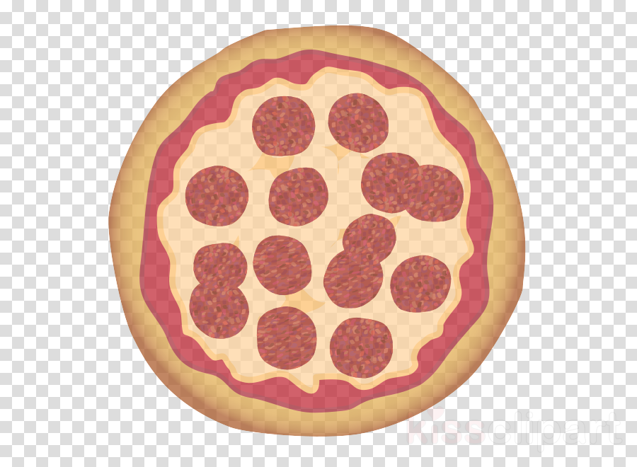 pepperoni sausage food pink pattern clipart - Pepperoni