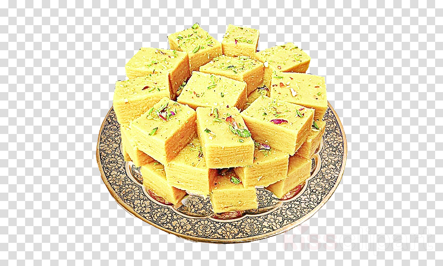 food cuisine dish besan barfi ingredient