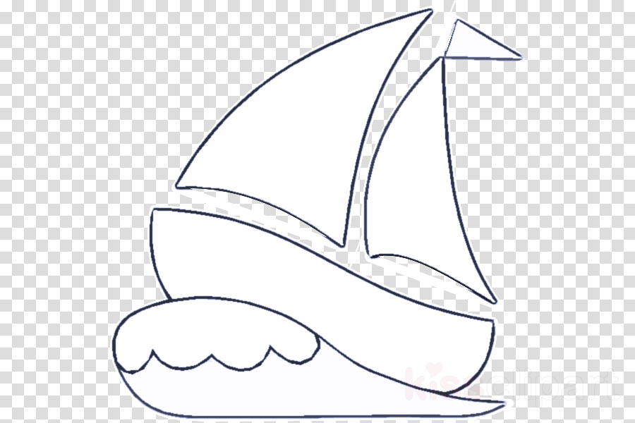 line art coloring book sail boat mast