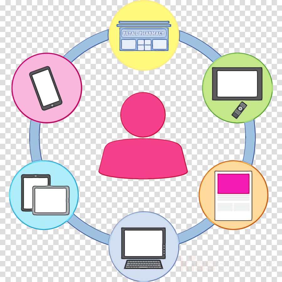 pink line clip art circle sharing