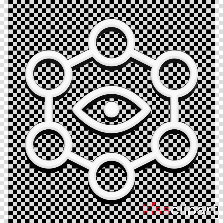 Abstract Icon Eye Icon Geometric Icon Clipart Circle Line