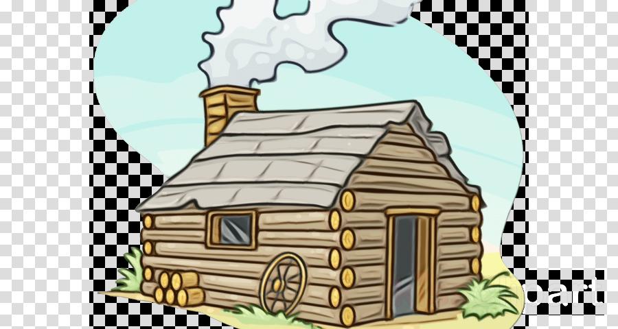 Hut Log Cabin Property House Cartoon Clipart Hut Log Cabin Property Transparent Clip Art