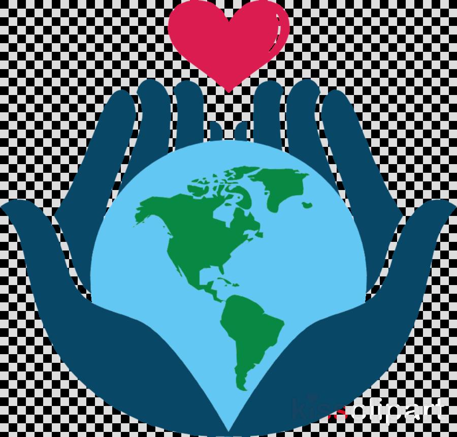 earth world globe gesture logo