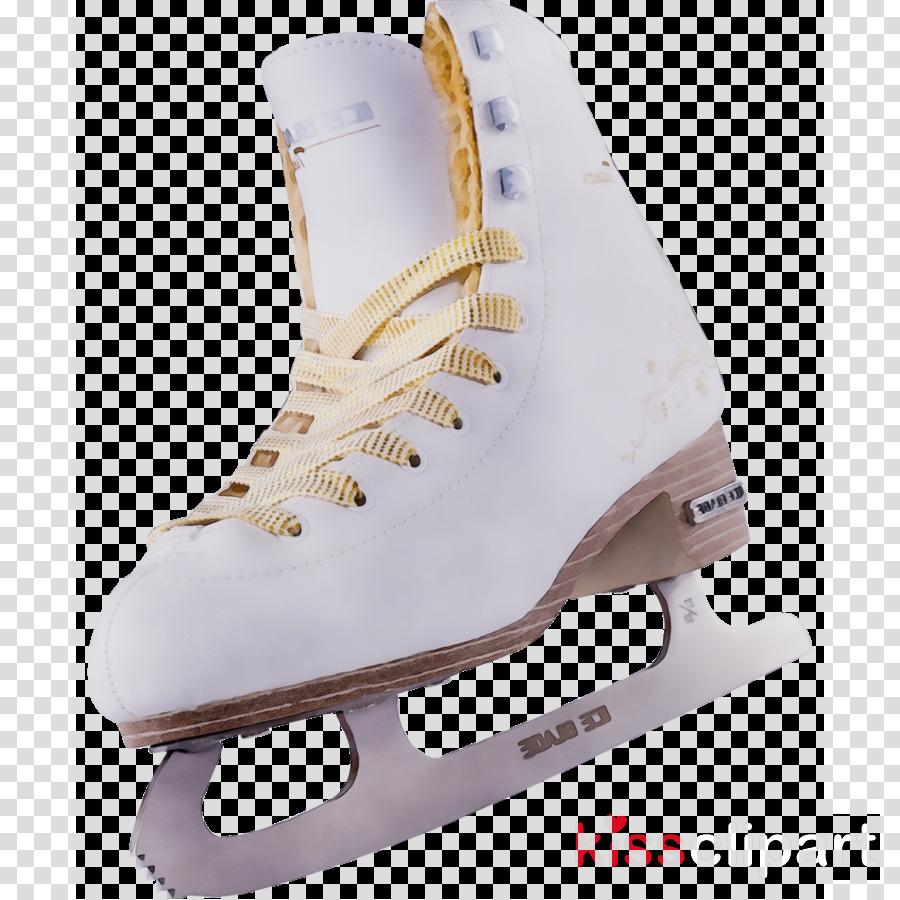figure skate ice hockey equipment white footwear ice skate