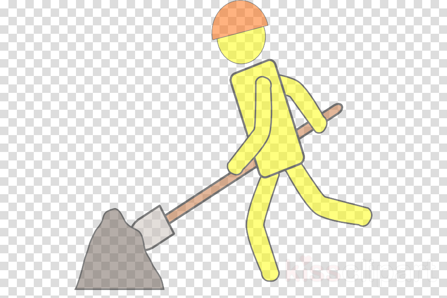 cartoon clip art solid swing+hit construction worker cleanliness
