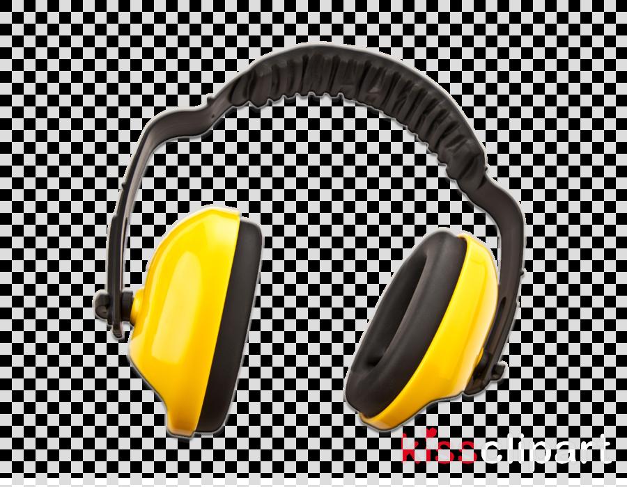 headphones audio equipment yellow gadget headset