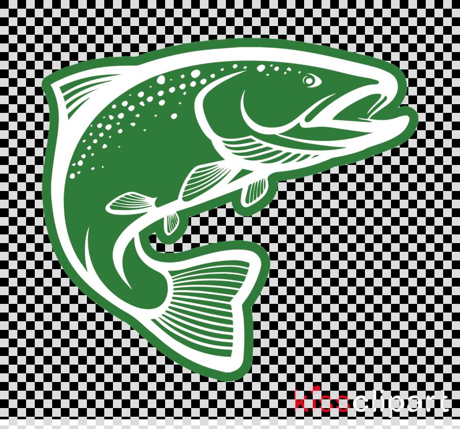 green logo fish font bass