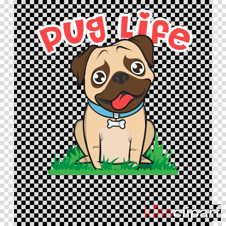 dog pug cartoon dog breed puppy