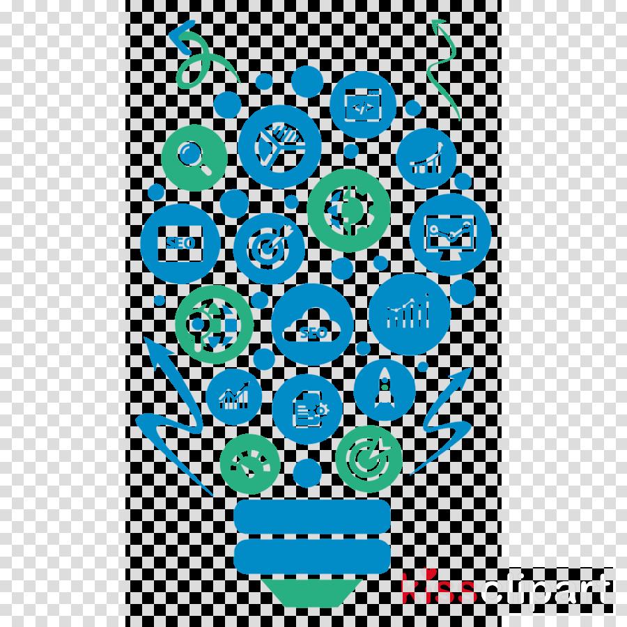 turquoise line art circle clip art
