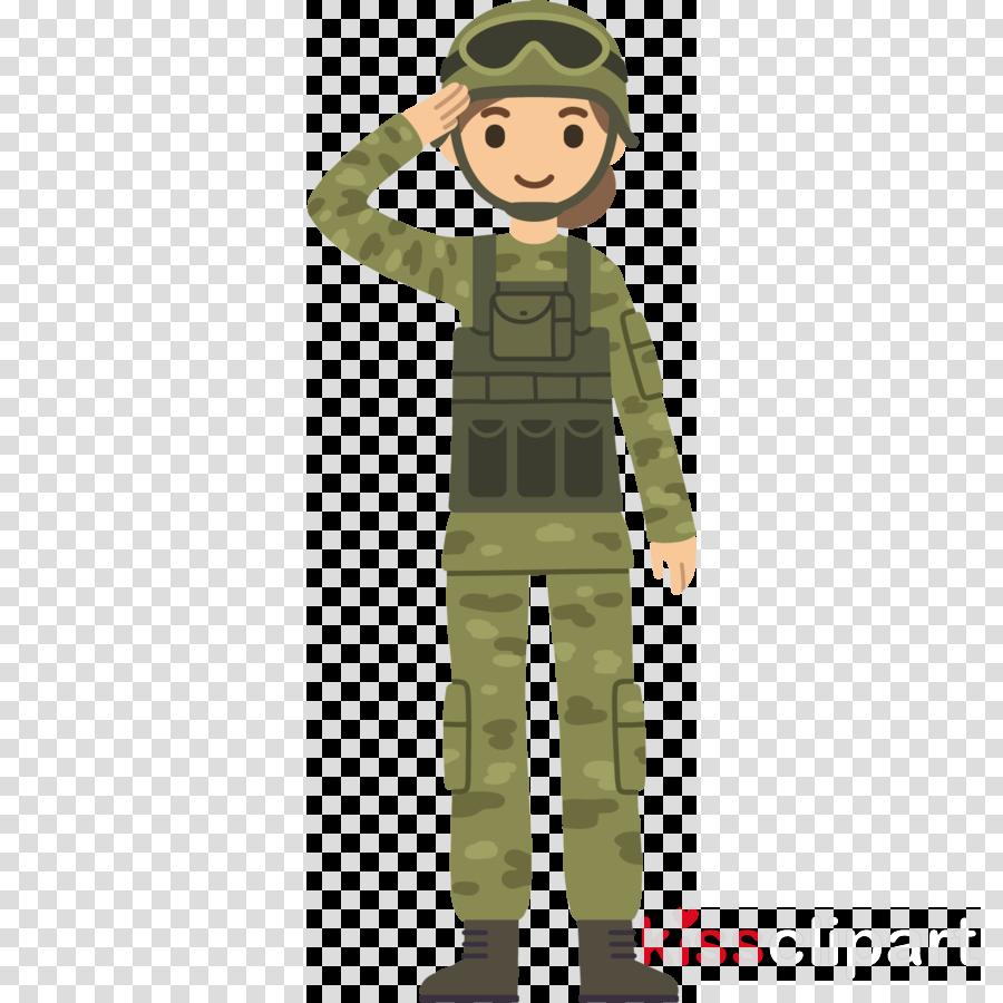 soldier military uniform military camouflage cartoon uniform
